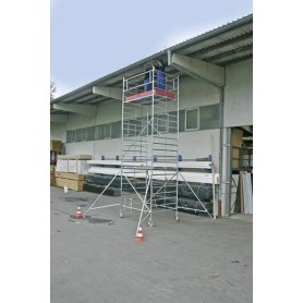Aluminium Gerüst Fahrbar Arbeitshöhe (Max.): 13.30 M Krause Stabılo Professional Serie 5000 Silber 386 Kg